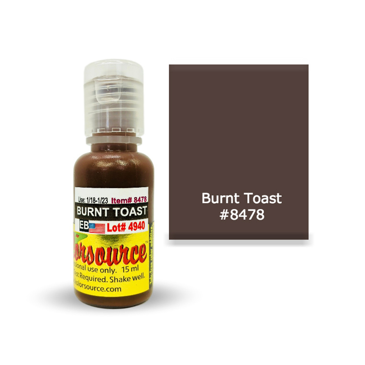 Kolorsource Permanent Makeup Pigment (PMU) Burnt Toast #8478 - 15ml