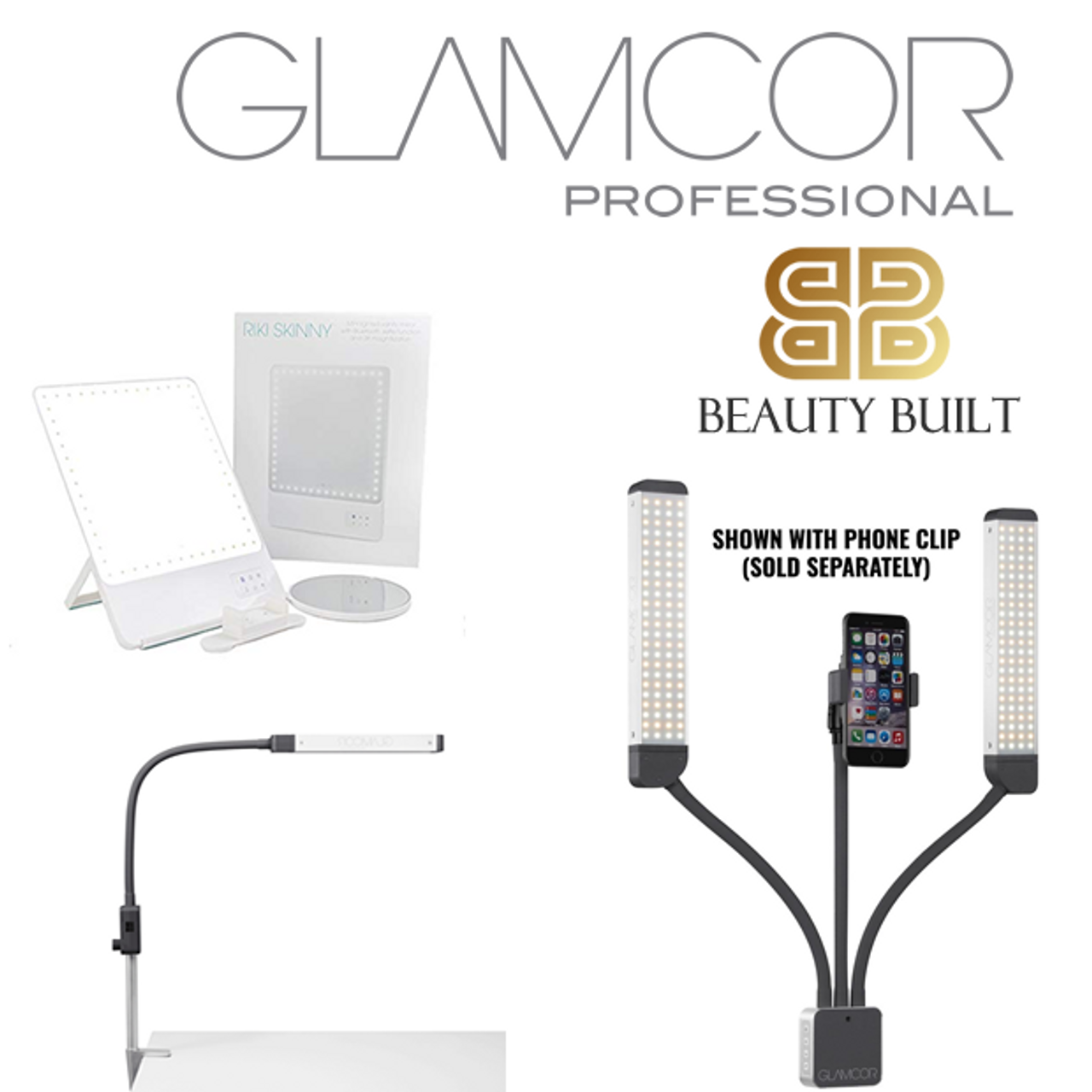 Glamcor Multimedia Extreme with Selfie Function - Pro Lighting for Permanent Makeup (PMU)