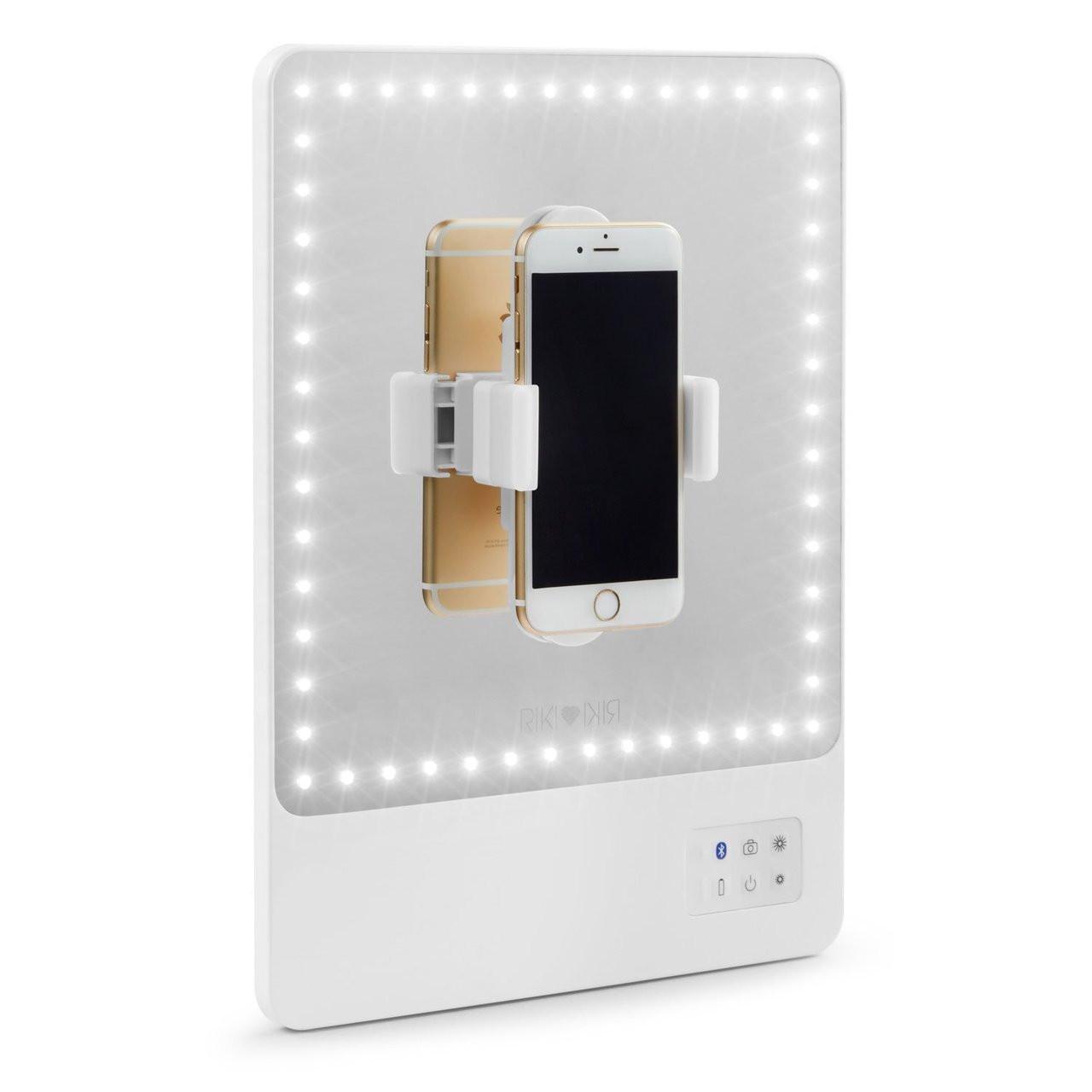 Glamcor Riki Skinny - Best Lighted Makeup Vanity Mirror with Selfie Function