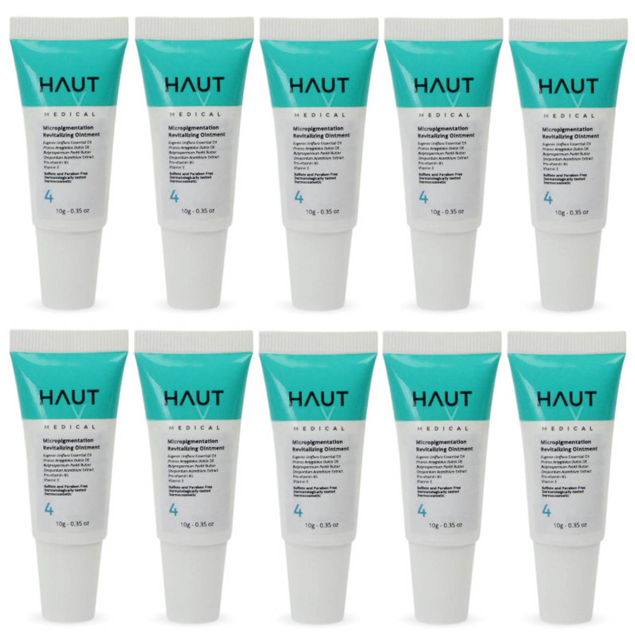 Micropigmentation Revitalizing Ointment Step 4 - Permanent Makeup (PMU) and Body Tattooing - 10g - 0.35 Oz. - PACK WITH 10 UNITS