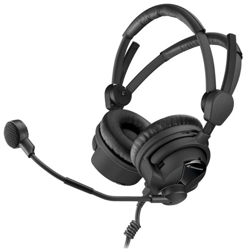 Sennheiser HMD 26-II-600-X3K1 Broadcast Headset, 600 Ohm Impedance, ActiveGard, Dynamic Microphone