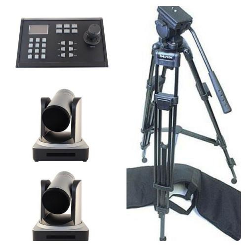 StreamEye dual camera PTZ Streaming Pkg w. Controller/tripods