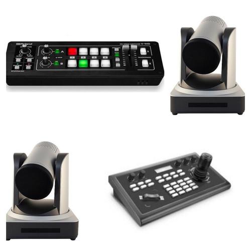 StreamEye dual PTZ camera Pkg w. IP-Control & Roland Switcher