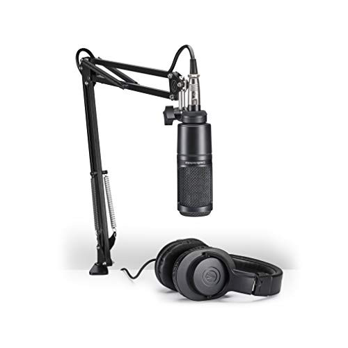 Audio-Technica AT2020PK Pack Includes Condenser Mic, Boom Arm & Headphones