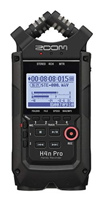 Zoom H4n Pro All Black 4-Track Portable Recorder