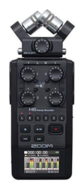 Zoom H6 All Black 6-Track Portable Recorder