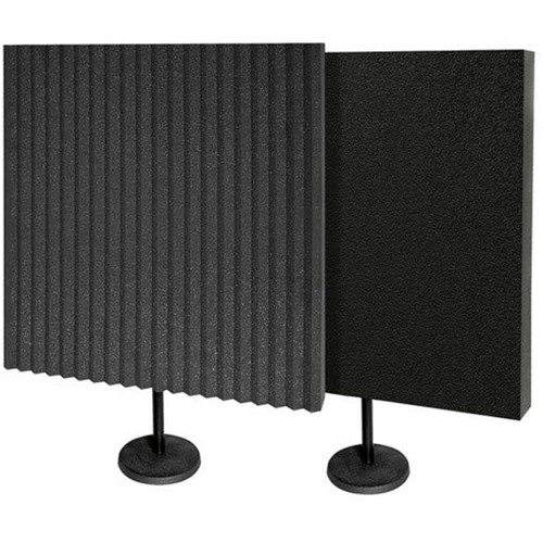 Auralex DeskMAX Baffle Kit - Portable Absorption Treatment Panels with Stands, Charcoal