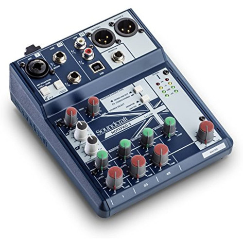 Soundcraft Notepad-5 Small-Format Analog Five-Channel Mixing Console with USB I/O (5085980US)