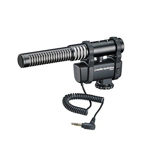 Audio-Technica AT8024 Stereo/Mono Camera-Mount Condenser Microphone,Black