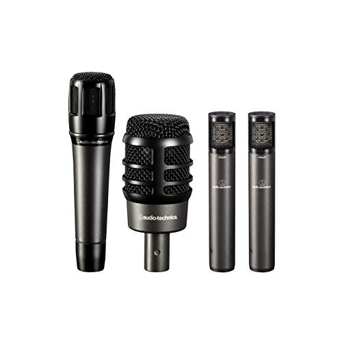 Audio-Technica ATM-DRUM4 4-Piece Drum Microphone Pack with Case