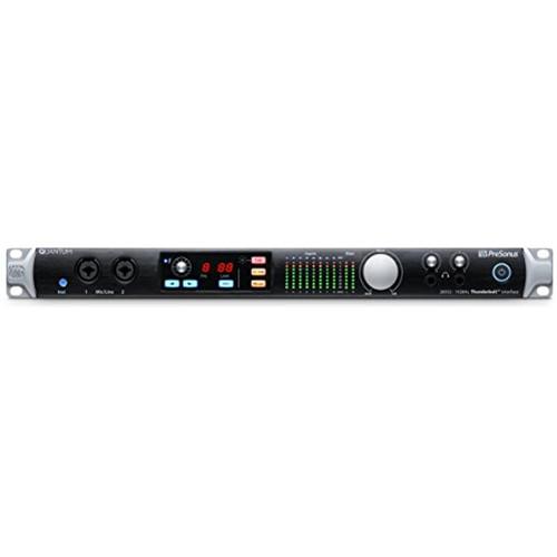 PreSonus Quantum 26x32 Thunderbolt Audio Interface/Studio Command Center, Black, 26x32-8 Mic Pres