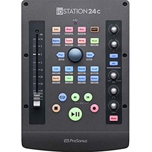 PreSonus ioStation 24c 2x2, 192 kHz, USB Audio Interface and Production Controller with Studio One Artist and Ableton Live Lite DAW Recording Software