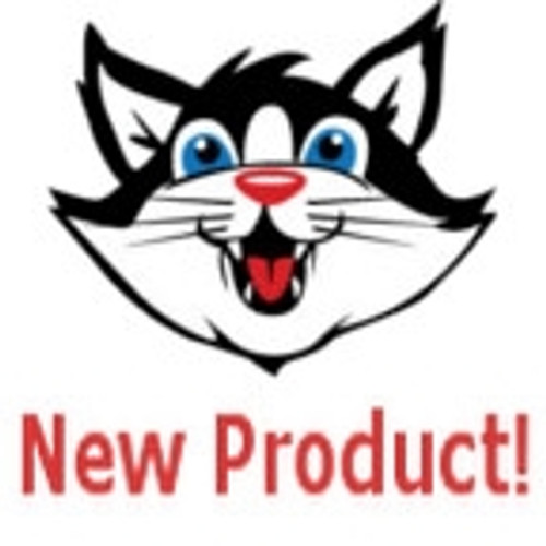 Picture of a Cat that says New product on it