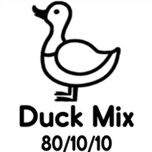 Picture of a Duck that says Duck Mix 80/10/10 on it