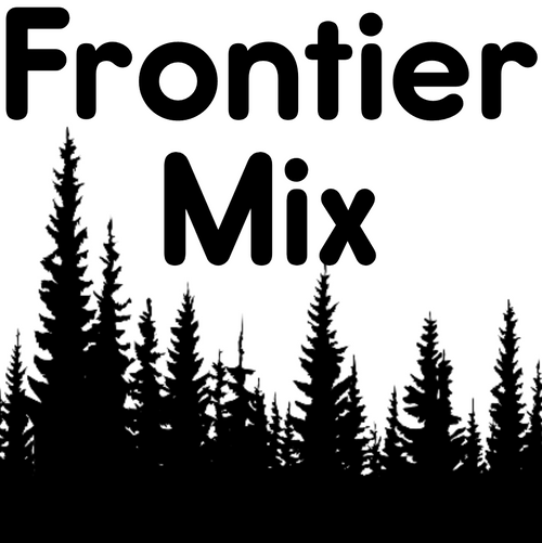 Picture of a forest that says Frontier Mix on it.