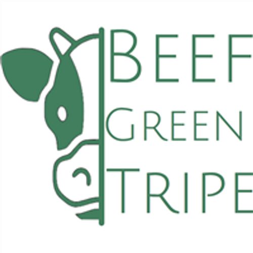 Picture of a cow that says Beef green tripe on it