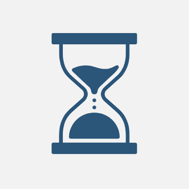 Image of an hourglass with time running out.