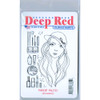 Makeup Palette Rubber Cling Stamp by Deep Red Stamps retail package front
