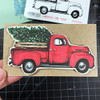 Christmas Tree Pickup Rubber Cling Stamp Project by Deep Red Stamps
