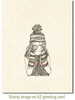 Cocoa Girl Cling Stamp by Deep Red Stamps shown on A2 card
