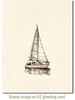 Sailing Cling Stamp by Deep Red Stamps