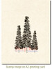 Three Pines Cling Stamp by Deep Red Stamps shown on A2 card