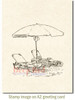 Oceanside Loungers Cling Stamp by Deep Red Stamps shown on A2 card