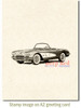 Classic Corvette Cling Stamp by Deep Red Stamps shown on A2 card