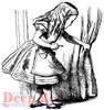 Alice Discovery Cling Stamp by Deep Red Stamps