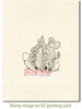 Desert Cactus Cling Stamp by Deep Red Stamps shown on A2 card