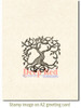 Tree of Life Cling Stamp by Deep Red Stamps shown on A2 card