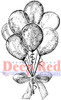Party Balloons Cling Stamp by Deep Red Stamps