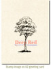 Cottonwood Tree Cling Stamp by Deep Red Stamps shown on A2 card