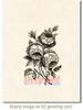 English Roses Cling Stamp by Deep Red Stamps shown on A2 card