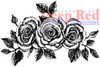 Rose Border Cling Stamp by Deep Red Stamps