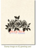 Rose Border Cling Stamp by Deep Red Stamps shown on A2 card
