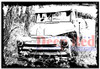 Abandoned Truck Cling Stamp by Deep Red Stamps