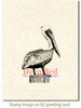 Pelican Cling Stamp by Deep Red Stamps shown on A2 card