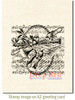 Spring Compilation Cling Stamp by Deep Red Stamps shown on A2 card