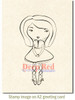 Violette Fancy Cling Stamp by Deep Red Stamps shown on A2 card