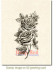 Rose Sketch Cling Stamp by Deep Red Stamps shown on A2 card
