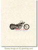 Motorcycle Rubber Cling Stamp by Deep Red Stamps shown on A2 card