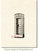 Phone Booth Rubber Cling Stamp by Deep Red Stamps shown on A2 card