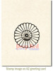 Rosette Flower Rubber Cling Stamp by Deep Red Stamps shown on A2 card