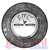 Vintage 45 Record Rubber Cling Stamp by Deep Red Stamps