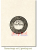 Vintage 45 Record Rubber Cling Stamp by Deep Red Stamps shown on A2 card