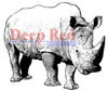 Rhinoceros Rubber Cling Stamp by Deep Red Stamps