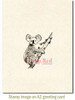 Koala Bear Rubber Cling Stamp by Deep Red Stamps shown on A2 card