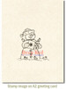 Snowman Caroling Rubber Cling Stamp by Deep Red Stamps shown on A2 card