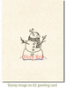 Snowman with Birds Rubber Cling Stamp by Deep Red Stamps shown on A2 card